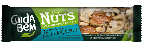Barra de nuts com banana e quinoa